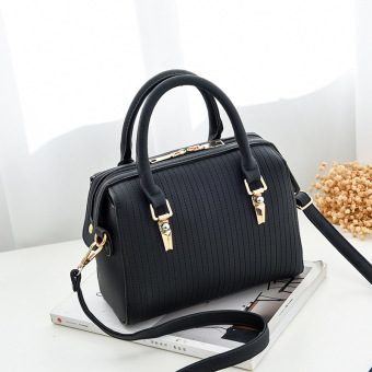 Korean-style solid color bag pillow bag Shishang Women's handbag (Pillow bag black)