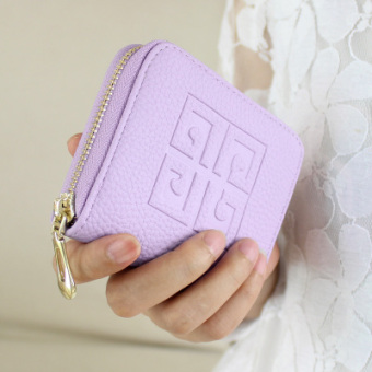 Korean-style spring and female small purse women's wallet (Pink and purple) (Pink and purple)