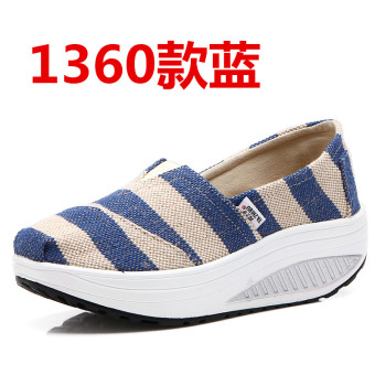 Korean-style spring and summer breathable casual shoes (1360 blue)