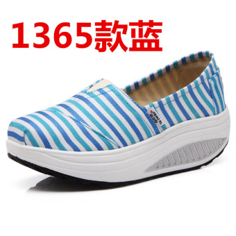 Korean-style spring and summer breathable casual shoes (1365 blue)