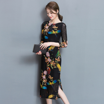 Korean-style spring New style Slim fit dress