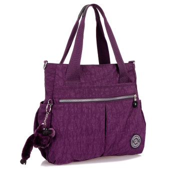 Korean-style spring New style three layer shoulder bag women's bag (Gorgeous purple)