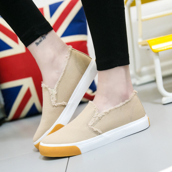 Korean-style student flat shoes New style canvas shoes (Casual)