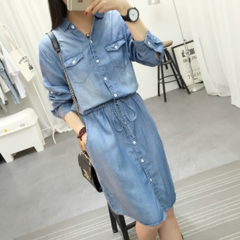 Korean-style Tencel spring New style denim dress