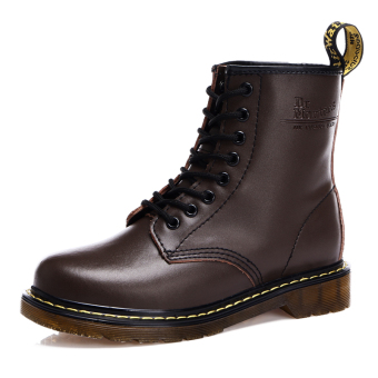 Korean-style tooling short boots hight-top male boots (1460 brown shoes Models)