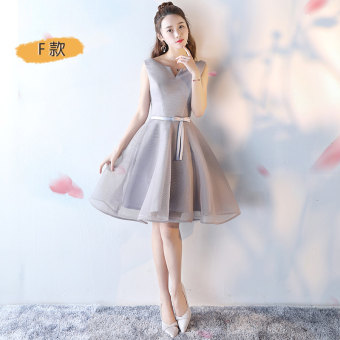 Korean style wedding bridesmaid banquet evening dress bridesmaid dress (F Models)