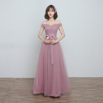 Korean style wedding sisters dress slimming bridesmaid dress (C) (C)