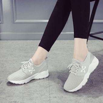 Korean-style white female summer shoes sports shoes (Gray)
