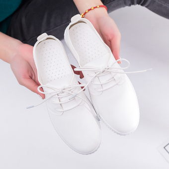 Korean-style white flat versatile women's shoes loafers BayMini shoes