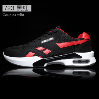 Korean-style winter Running Men's male shoes trendy shoes (723 black and red)