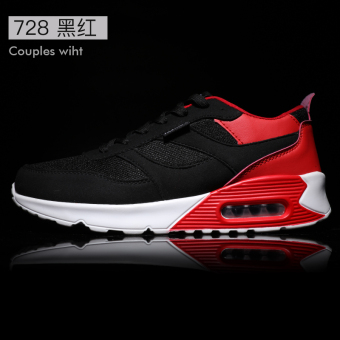 Korean-style winter Running Men's male shoes trendy shoes (728 black and red)