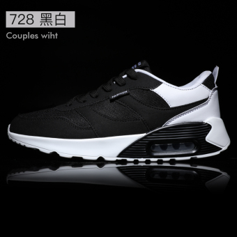 Korean-style winter Running Men's male shoes trendy shoes (728 black and white)
