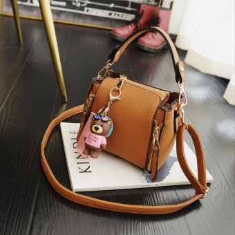Korean-style women's bag New style women's bag (Brown)