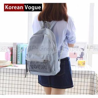 KOREAN VOGUE KV7003 Young Style Women Backpack Ladies Bag (LightBlue)