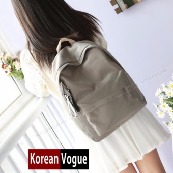 KOREAN VOGUE KV7006 Student Waterproof Nylon Women Unique LadiesFashion Ladies Backpack Bag(Grey)