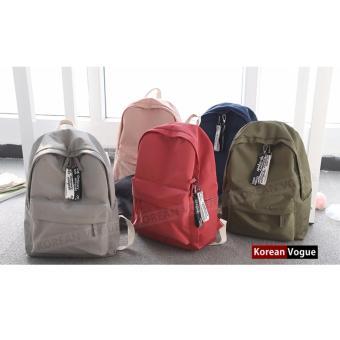 KOREAN VOGUE KV7006 Student Waterproof Nylon Women Unique LadiesFashion Ladies Backpack Bag(Grey) - 3