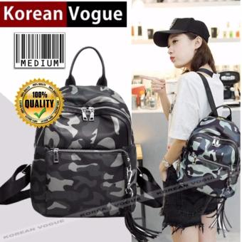 KOREAN VOGUE KV8007 Medium Size Waterproof Nylon Women Unique Style Fashion Backpack Bag(Comauflage)