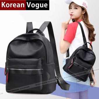Korean Vogue KV8014 Mysterious Black Series Small Size Student Unique Sport Style Nylon Casual Backpack Bag