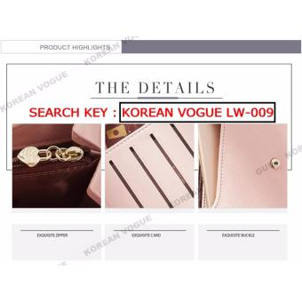 Korean Vogue LW-009 Ladies High Quality Long Section Three Folded Woman Handbag Wallet (Grey) - 3