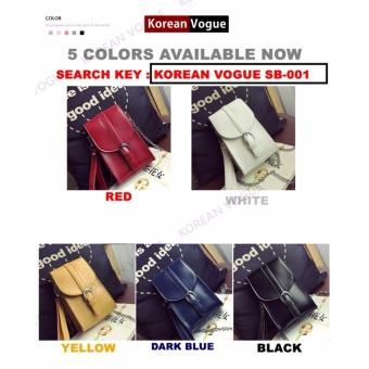 Korean Vogue SB-001 Ladies Quality Leather Unique Style Women MiniShoulder Chain Bag Phone Bag(White) - 2