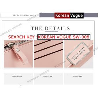 Korean Vogue SW-008 Ladies High Quality Exquisite Multi-functionShort Section 3 Folded Hand Bag Women Wallet Card Holder (Black) - 3