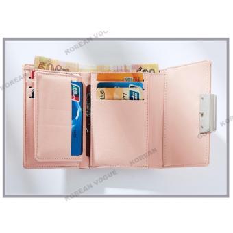 Korean Vogue SW-008 Ladies High Quality Exquisite Multi-functionShort Section 3 Folded Hand Bag Women Wallet Card Holder (Burgundy) - 4