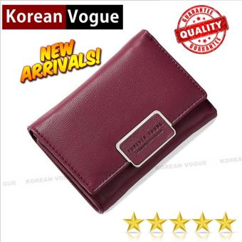 Korean Vogue SW-008 Ladies High Quality Exquisite Multi-functionShort Section 3 Folded Hand Bag Women Wallet Card Holder (Burgundy)