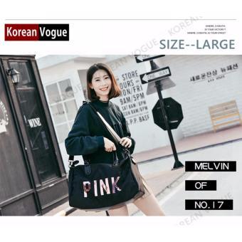 Korean Vogue TB-001 Premium Quality Women PINK 2 Ways Tote Bag Series Ladies Travel Handbag Shoulder Bag(Medium) - 3