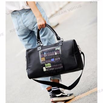 Korean Vogue TB-003 Premium Quality Women Letters 2 Ways Tote Bag Series Ladies Travel Handbag Shoulder Bag(Large)
