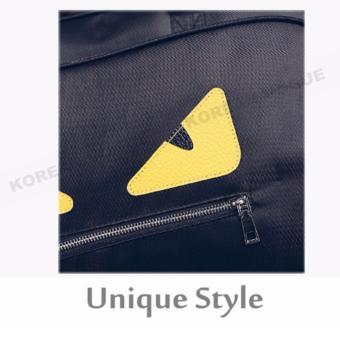 Korean Vogue TB-007 Premium Quality Women Large Capacity Big Eyes Tote Bag Series Ladies Travel Gym Sport Handbag Shoulder Bag(Black) - 4