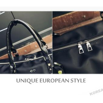 Korean Vogue TB-010 Premium Quality Unisex Large Capacity Rivet Style Tote Bag Series Ladies Travel Gym Sport Handbag Shoulder Bag(Black-Medium) - 4