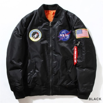 Kuhong Fashion Nasa Flight Bomber Jacket Baseball Coat Thin Coat Jacket - intl