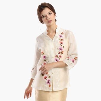 Kultura Raffaella Ladies Silk Cocoon Barong (Natural)
