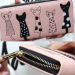 La Vie Cat Cartoon Wallet Long Creative Card Holder Casual PU Zip Ladies Clutch( Pink) - 3