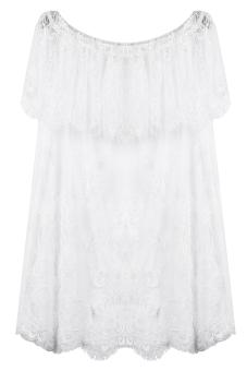 Lace Beach Wear Blouse (White) - picture 2