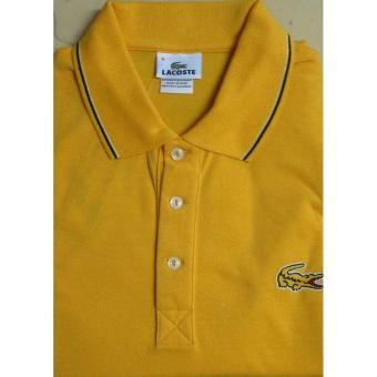 Lacoste Outlined Croc Slim Fit Men's Polo Shirt (Daffodil Yellow)