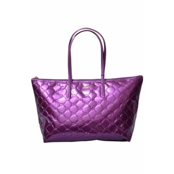 Lacoste Quilted Horizontal Tote Bag (Purple)