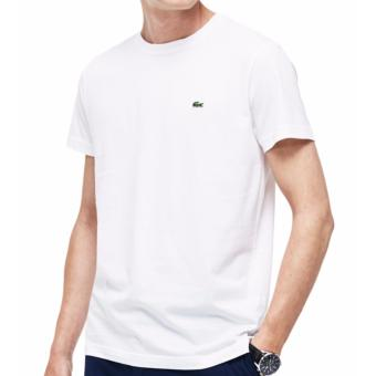 Lacoste T-shirt Round Neck for Men (WHITE)