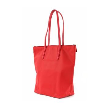 LACOSTE WOMEN'S L.12.12 CONCEPT VERTICAL TOTE BAG RED - 3