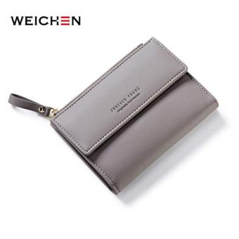 Lady Short Section Two Folded Crocodile Pattern Woman HandbagWallet - intl