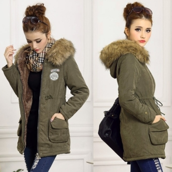 Lady Women Thicken Warm Winter Coat Hood Overcoat Long Jacket Outwear
