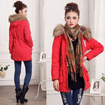 Lady Women Thicken Warm Winter Coat Hood Overcoat Long JacketOutwear