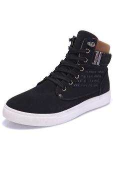 LALANG Casual Men High Cut Canvas Shoes Sneakers Sports Black Price Philippines