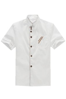 LALANG Chef Uniform Short Sleeve Coat (White) Price Philippines