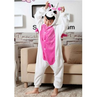 LALANG Children Animal Unicorn Pajamas Boys Girls Sleepwear (Pink)- intl