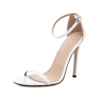 LALANG Fish Mouth High Heel Shoes Women Sandals (White) - intl Price Philippines