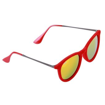 LALANG Hot Velvet Frame Sun Glasses (Red)