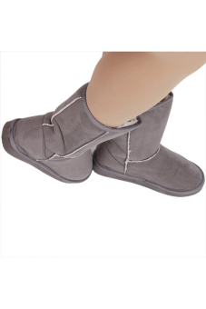 LALANG LALANG Chic Ladies Womens Rubber Sole Snow Ankle Boots Winter Warm Flat Casual Shoes Grey