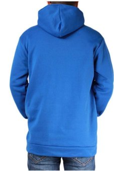 LALANG Men Casual Hoodies Outwear Slim Fit Jacket Blue - picture 2