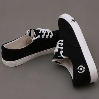 LALANG New Men's Casual Shoes Breathable Fashion Canvas Flats ShoesBlack - intl